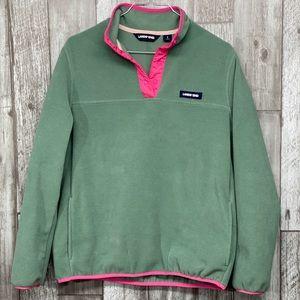 Lands' End Heritage fleece snap pullover